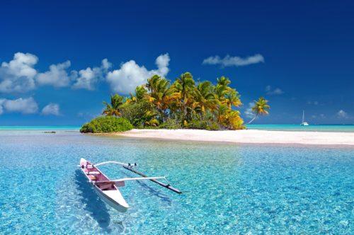 タヒチ ビーチ 青い海