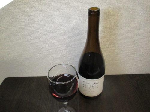 鶏肉料理やクリーム系のパスタに合う赤ワイン。口当たりが軽くチェリーの香りが良いピノ・ノワールのコノスル赤ワイン