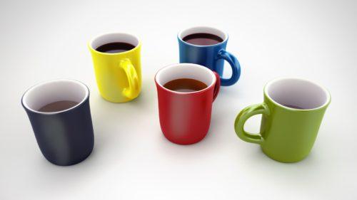 コーヒーカップ カラフル 色がカッコいい